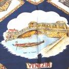 Rialto Venezia Venice Italy souvenir scarf acetate satin classic vintage 1547vf