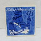 2 Holland America Line souvenir cork backed ceramic tile coasters  vintage 1549vf