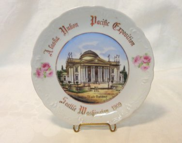 Alaska Yukon Pacific Exposition souvenir plate 1909 Oregon State Building Seattle 1589vf