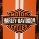 Harley Davidson fleece blanket