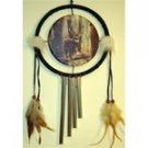 Deer dream catcher with wind chime
