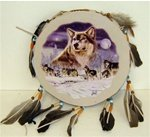 Wolf Tamborine Dream Catcher.
