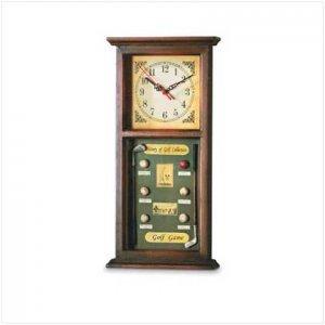 Wood Golf Shadow Box Clock