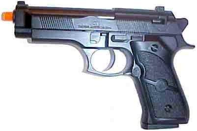 """5"""" Black Metal Airsoft pellet Gun."""