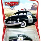 DISNEY PIXAR CARS Animated Movie 1:55 Die Cast SHERIFF ORIGINAL SERIES 1 DESERT BACKGROUND 16 BACK