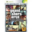 Grand Theft Auto San Andreas Platinum Hits for Microsoft Xbox NEW