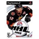 NHL 2003 Hockey Playstation 2 NEW PS2 GAME