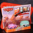 Disney Pixar CARS Movie Toy Mini Adventures FILLMORE'S FESTIVAL SALLY & FILLMORE WOC NEW