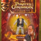 Disney Pirates of the Caribbean At Worlds End Action Figure Series 3 Gibbs with Pistol New