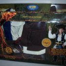 POTC Pirates of the Caribbean Dead Man's Chest Costume Captain Jack Sparrow Deluxe Action Suit NEW