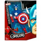 "Marvel Signature Series Spider-Man Origins Collection Captain America 10"" inch - Action Figure NEW"