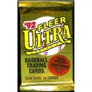 1992 Fleer Ultra Series I Baseball Trading Cards Unopened Hobby Pack (14 cards per pack) NEW