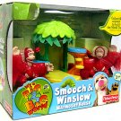 Fisher Price It's a Big Big World Smooch and Winslow Marmoset House World Tree Set New