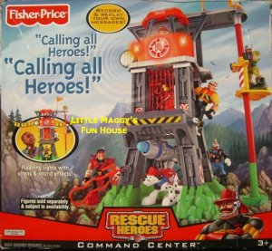 Fisher Price Rescue Heroes Command Center Playset NEW