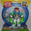 "Fisher Price Planet Heroes EARTH "" ACE "" Action Figure DVD Included NEW toy"