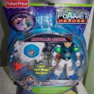 "Fisher Price Planet Heroes Metallic Squad EARTH "" ACE "" Action Figure with Bonus VOL 2 DVD"