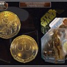 Hasbro Star Wars 30th Anniversary Action Figure Saga 2007 CHEWBACCA McQuarrie Concept GOLD NEW