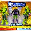 Mattel DC Universe Infinite Heroes Crisis Action Figure 3-Pack Lex Luthor with 2 Lexcorp Troopers