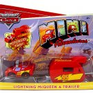 Disney Pixar CARS Mini Adventures Lightning McQueen With Motorized Trailer World of Cars WOC  NEW
