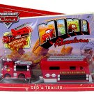 Disney Pixar CARS Mini Adventures Red Fire Engine With Motorized Trailer World of Cars WOC  NEW