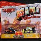 Disney Pixar CARS Movie Mini Adventures Piston Cup Nitroade & Leak Less World of Cars WOC NEW