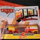 Disney Pixar CARS Movie Mini Adventures Lightning McQueen's Team Sarge & Fillmore World of Cars WOC