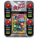 BUZZ Junior Jr. Robo Jam for Sony Playstation 2 Bundle with Game and 4 Buzzers NEW PS2 GAME