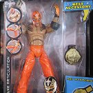 WWE Jakks Pacific Action Figure REY MYSTERIO Deluxe Aggression 21 with Championship Belt NEW