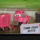 DISNEY PIXAR CARS Animated Movie 1:55 Die Cast Tank Coat Pitty # 74 Race-O-Rama Series NEW