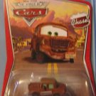DISNEY PIXAR CARS Movie Fred With Bumper Stickers (Chase) 1:55 Die Cast The World of Cars WOC New