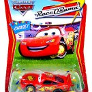 DISNEY PIXAR CARS 1:55 Impound Lightning McQueen #73 (Chase) Race O Rama Series [Confetti Package]