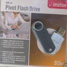 Imation 512MB Pivot Flash Drive USB 2.0 NEW