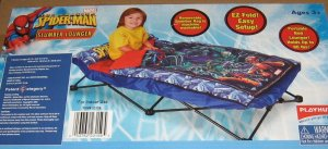 PlayHut Spiderman Slumber Lounger Cot Bed Spider-Man NEW Sealed Box