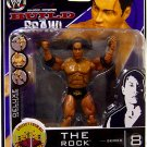 WWE Jakks Deluxe Build N Brawl Series 8 Mini 4 Inch Action Figure The Rock with Ring Base Piece