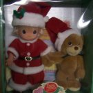 Precious Moments Wishing You a Bear-ie Merry 2000 Christmas Doll and Bear New