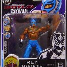 WWE Jakks Pacific Deluxe Build N Brawl Series 8 Mini 4 Inch Action Figure REY MYSTERIO Blue Outfit