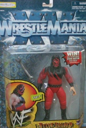 WWF WWE Jakks Pacific 1998 Wrestlemania XV 15 Fully Loaded Kane Action Figure New