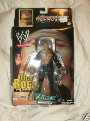 2002 Superstars Uncovered The Rock Action Figure Walmart Exclusive NEW