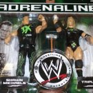 "WWE Jakks Pacific Adrenaline Series 24 Shawn Michaels & "" The Game "" Triple H DX Action Figures"