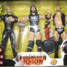 WWE Jakks Pacific NWO Federation Poison Scott Hall, Kevin Nash and X-Pac Sean Waltman Action Figures
