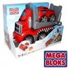 MEGA BLOKS Tiny 'n Tuff Red Racer Race Transporter 8250 6 Pcs New
