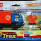 "Fisher Price Geo Trax Rail & Road System Lights & Sound Vehicle: Dumpster The "" Stinkiest Team """