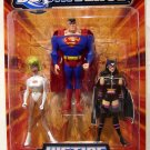 Mattel DC Universe Justice League Unlimited Action Figure Galatea, Superman & Huntress New