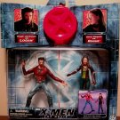 Toy Biz Marvel X-Men The Movie Hugh Jackman as WOLVERINE vs Anna Paquin as ROGUE action figures New