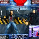 Toy Biz Marvel X-Men The Movie Hugh Jackman as WOLVERINE vs Ian McKellen as MAGNETO action figures