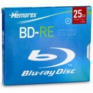 Memorex Blu-Ray 25 Gb Single Layer 1 pack BD-RE Media, Rewritable 1x-2x Speed NEW