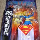 DC Super Heroes Select Sculpt Series 5 Blue Supergirl Modern Costume Action Figure with Diorama