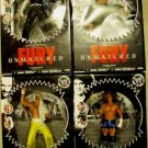 WWE Jakks Pacific Unmatched Fury Series 3 Jeff Hardy, John Cena, Carlito, Sabu Figures NEW