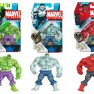 Marvel Universe Series 2  Red, Green and Grey Hulk Action Figures Set of 3 Individaully Carded New