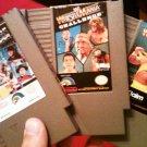3 USED Nintendo Cartridge Games Wrestlemania, Wrestlemania Challenge and Wrestlemania Steel Cage